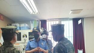 포항해경서장, 해상전탐감시부대 방문 공조 강화